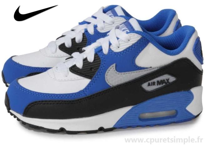 Soldes > air max 90 bleu et blanche > en stock